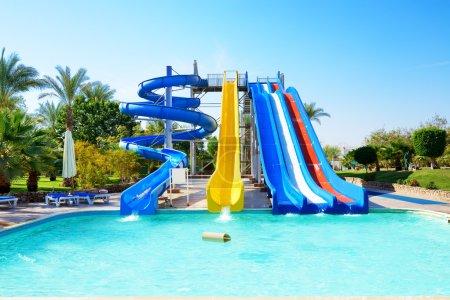 Photo pour Aquapark à l'hôtel populaire, Sharm el Sheikh, Egypte - image libre de droit