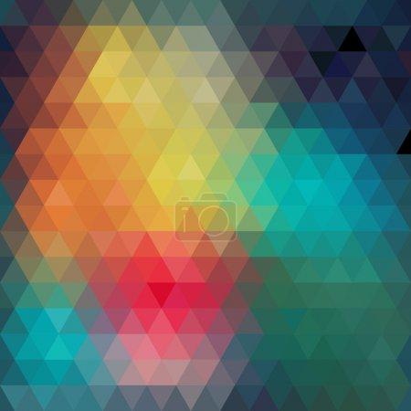 Photo pour Modèle de triangles de formes géométriques. Fond mosaïque coloré. Geometric hipster fond rétro, placez votre texte sur le dessus de celui-ci. Fond triangle rétro. Contexte : - image libre de droit
