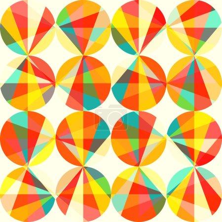 Foto de Patrón geométrico de círculos y triángulos. patrón sin costuras de círculos de colores. Vintage patrones abstractos sin fisuras. plantilla de geometría brillante. formas redondas. Retro mano dibuja círculos ornamento - Imagen libre de derechos