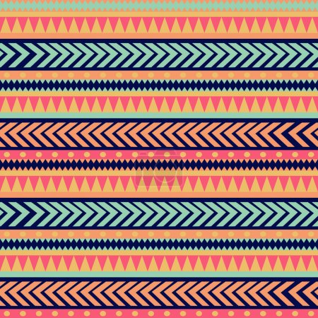 Photo for Seamless tribal texture. Tribal pattern. Colorful ethnic striped pattern. Geometric borders. Traditional ornament. Hand drawn abstract backdrop. Wallpaper for pattern fills, web page - Royalty Free Image
