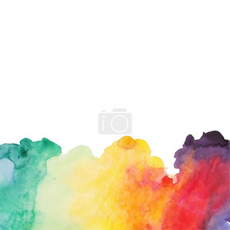 Photo for Abstract hand drawn watercolor background, illustration, stain watercolors colors wet on wet paper. Watercolor composition for scrapbook elements with empty space for text message. - Royalty Free Image