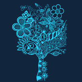 Surreal abstract tree art