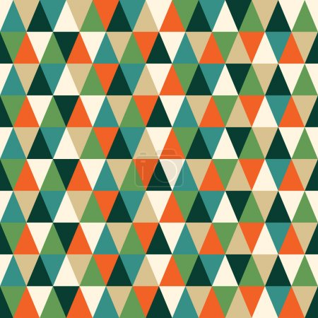 Seamless texture with triangles, mosaic endless pattern