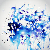 Vector watercolor texture Blue grunge paper template Water We