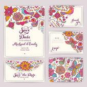 Šablona pro tisk svatební Pozvánka: Pozvánka, obálka, th
