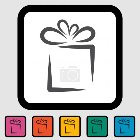 Illustration for Holiday Gift Box Icon. Vector illustration EPS 8. - Royalty Free Image