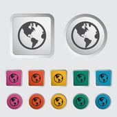 Simple World globe Vector illustration