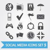 Sociální media ikony nastavit 5