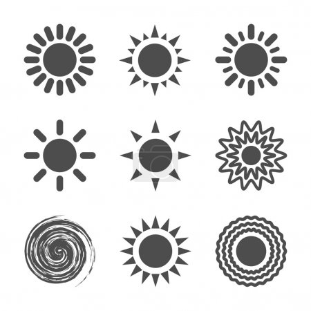 Illustration for Sun icon. Vector illustration. - Royalty Free Image