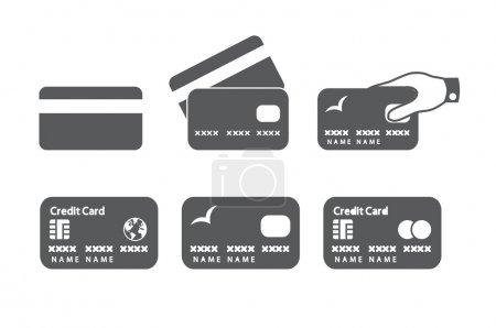 Illustration pour Icônes de carte de crédit. Illustration vectorielle . - image libre de droit