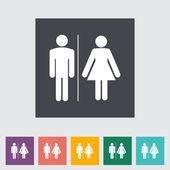 WC single flat icon