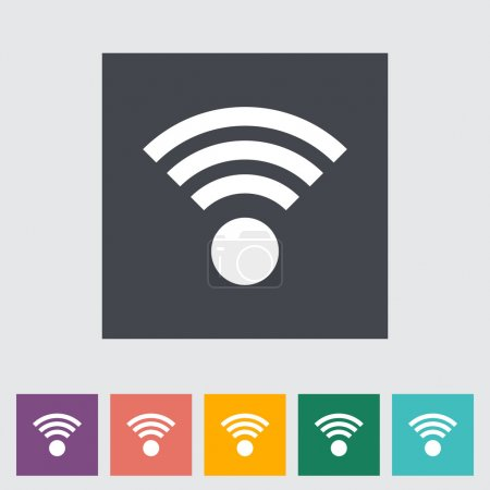 Illustration for Wireless flat icon. Vector illustration. - Royalty Free Image
