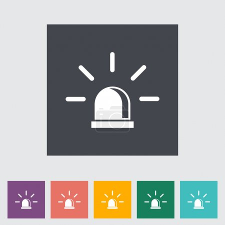 Illustration for Police single flat icon. Vector illustration. - Royalty Free Image