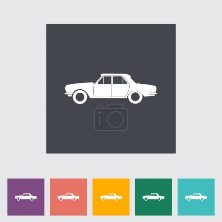 Car flat icon. Single icon. Vector illustration....