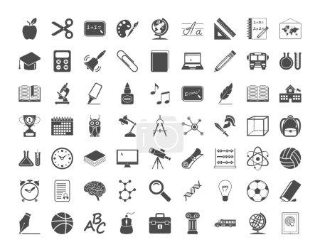 Ilustración de Iconos de la educación. ilustración vectorial.. - Imagen libre de derechos