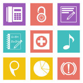 Color icons for Web Design and Mobile Applications set 36 Vector illustration