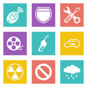 Color icons for Web Design and Mobile Applications set 37 Vector illustration