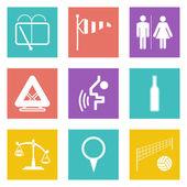 Color icons for Web Design set 45