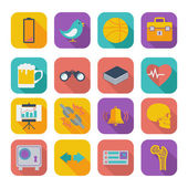 Color flat icons for Web Design and Mobile Applications Set 2 Vector illustration