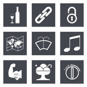 Icons for Web Design and Mobile Applications set 48 Vector illustration