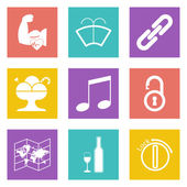 Color icons for Web Design and Mobile Applications set 48 Vector illustration