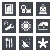 Icons for Web Design and Mobile Applications set 50 Vector illustration