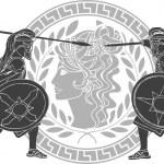 Trojan war. third variant. vector illustration...