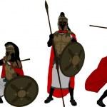 Ancient warriors. second variant. vector illustrat...