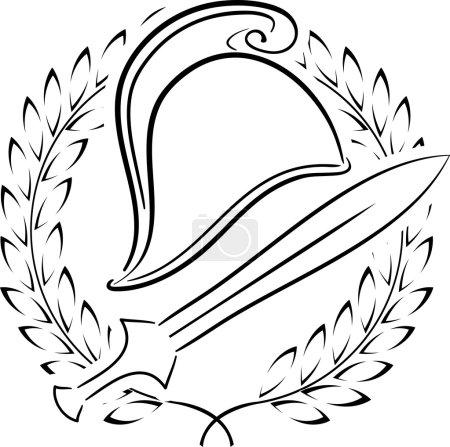Macedonian phrygian helmet with laurel wreath