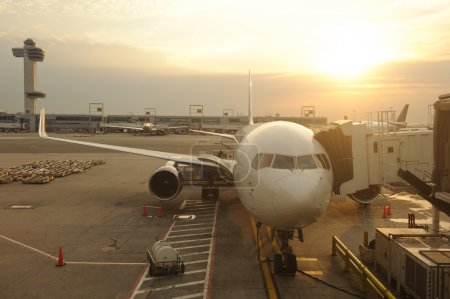 Civil aircraft in JFK airport
