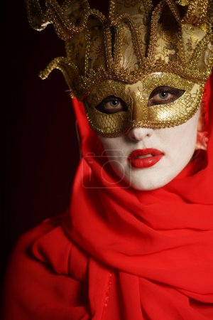 Golden theater mask