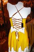 mannequin with yellow underwear