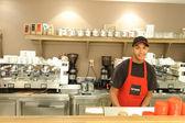 Barman in Aroma Espresso Bar
