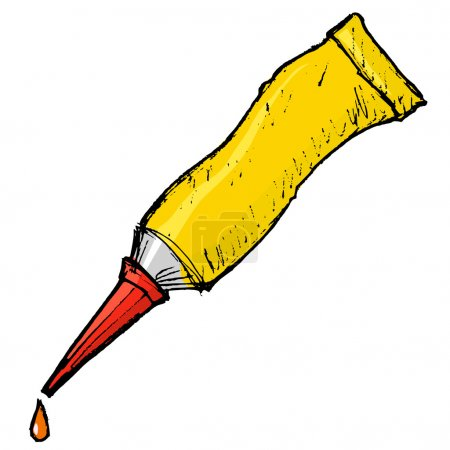 tube with glue, vector image
