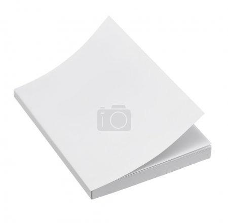 Photo for Blank book cover on white background - Royalty Free Image