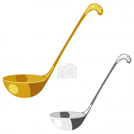 Soup spoon. eps10