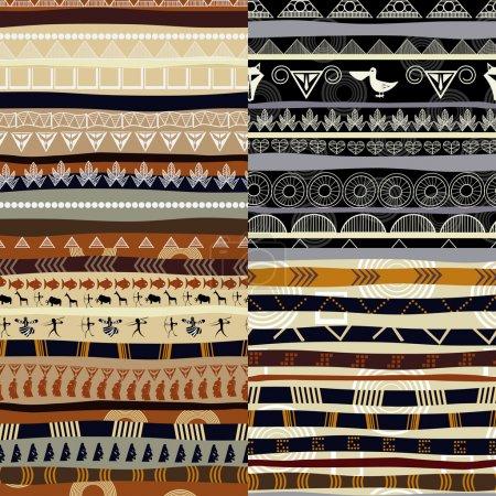 Illustration pour Ensemble de motifs tribaux primitifs africains - image libre de droit