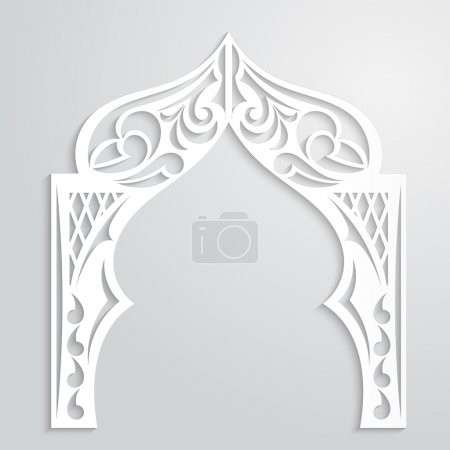 Abstract background with paper arch in the Asian style