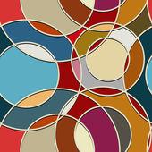Seamless color texture of circular items