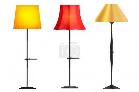 Set of floor lamps