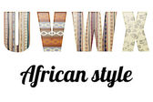 Alphabet in the African style
