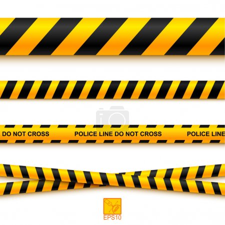 Police line tape and danger on a light background....