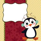 Cute christmas new Year postcard template