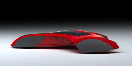 Red Sports Car - Futuristic Vehicle