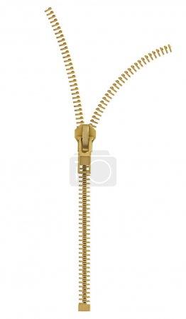 Open lock zipper.