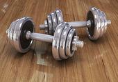 Dvě činky pro fitness