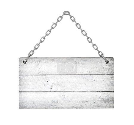 Photo pour Blanc Texture en bois isolé fond blanc - image libre de droit