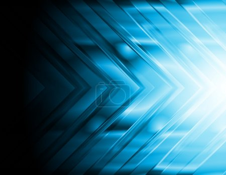 Illustration for Dark blue hi-tech background. Bright arrow. Eps 10 vector illustration - Royalty Free Image