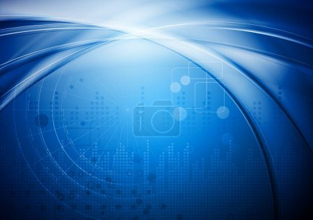 Illustration for Hi-tech abstract background. Vector illustration eps 10 - Royalty Free Image