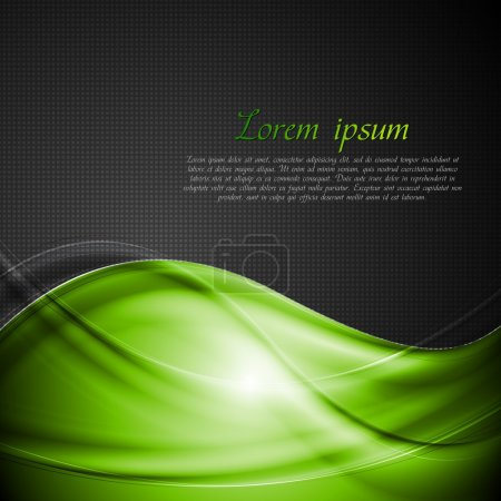 Bright green and black vector background